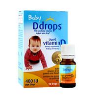 双11预售:ddrops 维生素D3滴剂婴幼儿400iu液体补钙2.5ml*3瓶