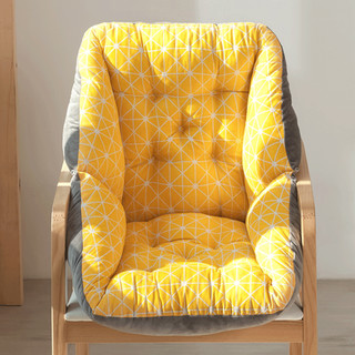 坐垫办公室久坐椅垫靠垫一体椅子靠背垫卧室地上凳子座垫冬季毛绒