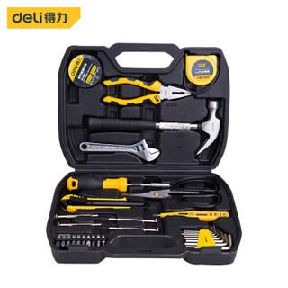 得力(deli) 家用工具箱套装 电工木工维修五金手动工具组套31件套 DL5972