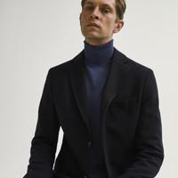 Massimo Dutti 02003430401 棉质男士西装外套