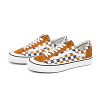 Vans范斯官方 棋盘格男鞋女鞋Style 36低帮板鞋运动鞋 棕色/白色/蓝色 37 *3件