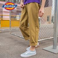 Dickies春夏可脱卸腰带工装裤 男式春季褶皱设计宽松长裤子DK007410 古铜色 34