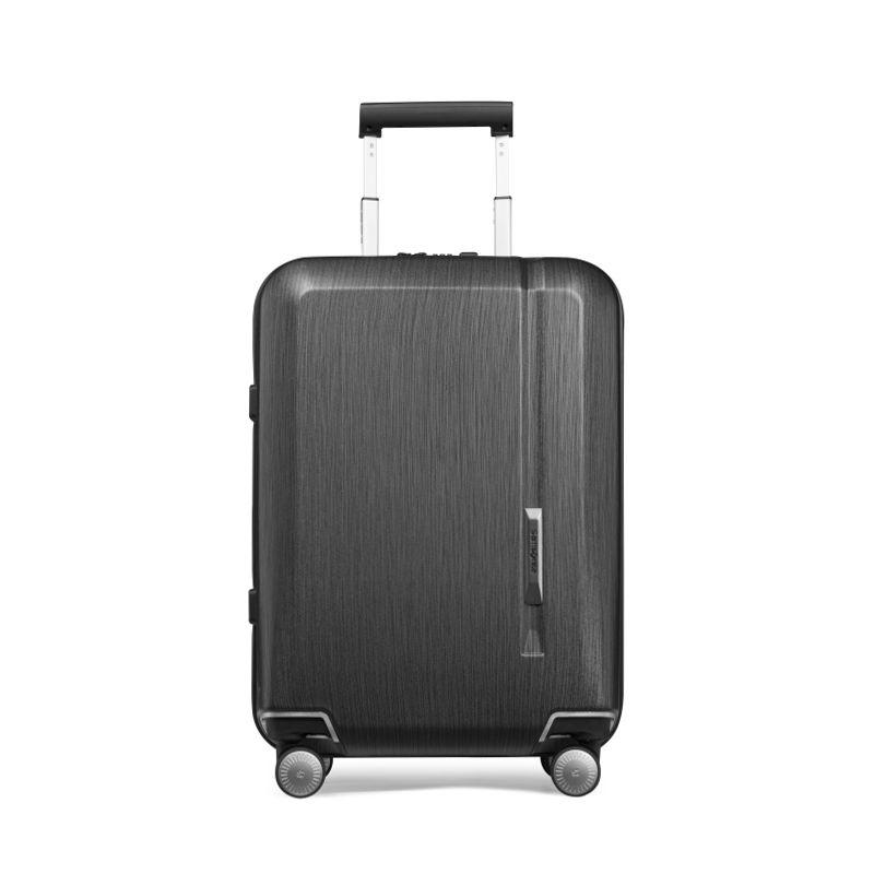 Samsonite 新秀丽 NOVAE系列纯色飞机轮密码锁拉链拉杆箱TQ9*09002 黑色20英寸