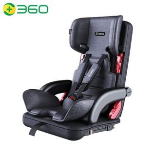 360 T201 便携折叠式儿童安全座椅 9个月-12岁 潜力灰