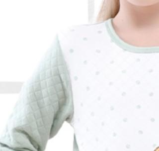 Barbie 芭比 女童三层保暖夹棉居家套装 CB9801 豆绿色 160cm