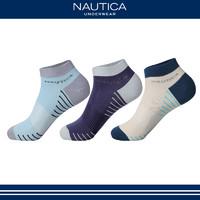 Nautica Underwear诺帝卡男士40S棉细腻耐磨短筒袜子男短袜 秋季