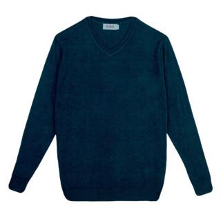 恒源祥 男士薄款V领套头针织衫毛衣51SC8051 墨蓝色S
