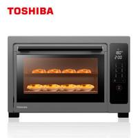 东芝(TOSHIBA)大容量 智能专业烘焙电烤箱 上下独立控温 带旋转烤叉 搪瓷内胆 热风对流  D2-38B1  38升 *2件