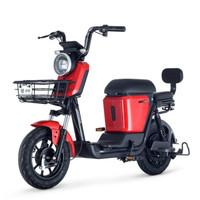 绿源超长续航锂电池电动车新国标电动自行车   蜜豆 探戈红(锂电48V24Ah)