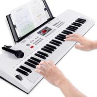 八度宝贝 超大号85cm电子琴儿童成人可用 象牙白