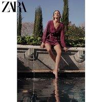 ZARA 新款 女装 配腰带提花连衣裙 04786246611