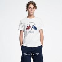 GANT/甘特夏季 男士勒芒海报印花圆领短袖T恤2003048