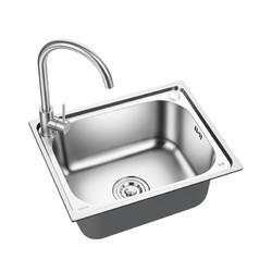 晶厨 KS2016R 不锈钢拉伸水槽单槽 不含龙头