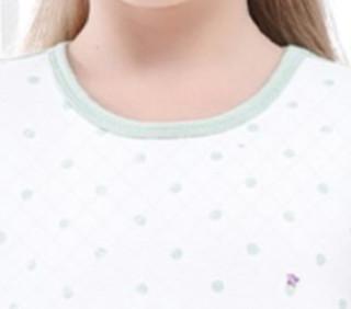 Barbie 芭比 女童三层保暖夹棉居家套装 CB9801 豆绿色 130cm