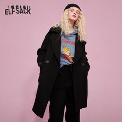 elf sack 妖精的口袋 19413049A 女士中长款毛呢大衣