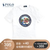 Ralph Lauren/拉夫劳伦男装 经典款定制修身版型T恤11963 100-白色 L
