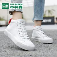 木林森女鞋休闲鞋女小白鞋秋季新品学生韩版百搭单鞋女板鞋子 白色 35