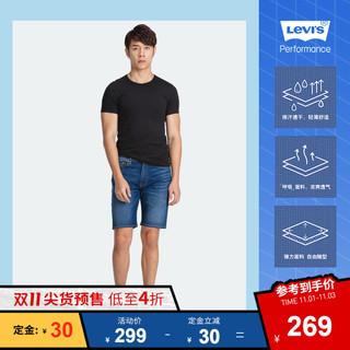 Levi's李维斯酷爽系列男505标准直筒牛仔短裤34505-0198