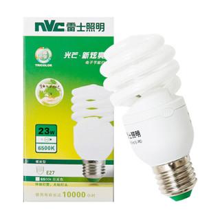 雷士照明(NVC)节能灯 E27大口螺旋23W6500K 日光色(白光)