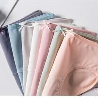 Langsha 浪莎 XZ9919221  女士中腰三角裤7条装