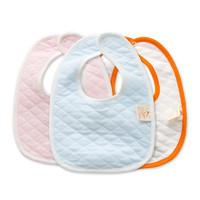 班杰威尔 加厚双层夹棉纯棉按扣宝宝围嘴围兜(2条装) *2件