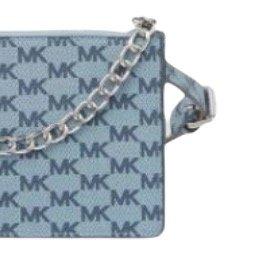 MICHAEL KORS 迈克·科尔斯 Pull Chain系列女士皮革拉链腰包 淡蓝色小号