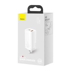 BASEUS 倍思 氮化镓GaN二代 65W充电器 白色