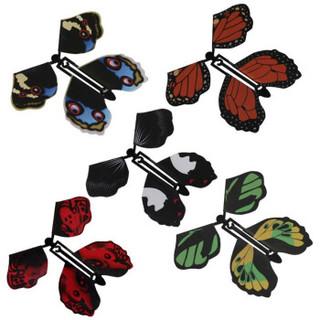 乐加酷  新款黑色皮筋魔术蝴蝶 4个装
