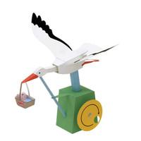 移动专享:乐加酷  创意手工折纸套装 白鹤