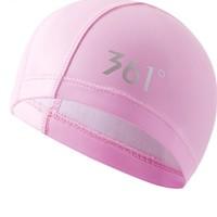 361° 泳帽 条纹粉色