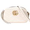 GUCCI 古驰 GG Marmont系列女士绗缝拉链单肩相机包447632-DTD1T