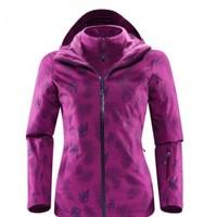 户外运动女款三合一保暖蓄温防风滑雪服 XXL 红仙