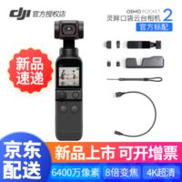 DJI 大疆 DJI Pocket 2 全能套装 灵眸口袋云台相机 迷你手持云台相机 高清增稳 DJI pocket 2官方标配 DJI