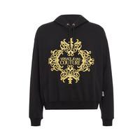 双11预售:Versace Jeans Couture 棉质刺绣连帽卫衣