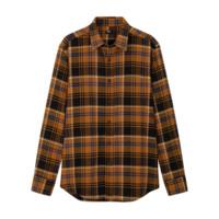 UNIQLO 优衣库 男士法兰绒格子长袖衬衫421199 土黄色S