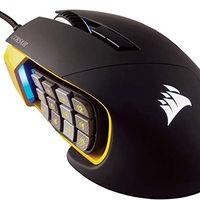 Corsair Gaming CH-9302111-EU 多色背光性能 16000 DPI 光学游戏鼠标CH-9304011-EU SCIMITAR PRO RGB - MMO/MOBA