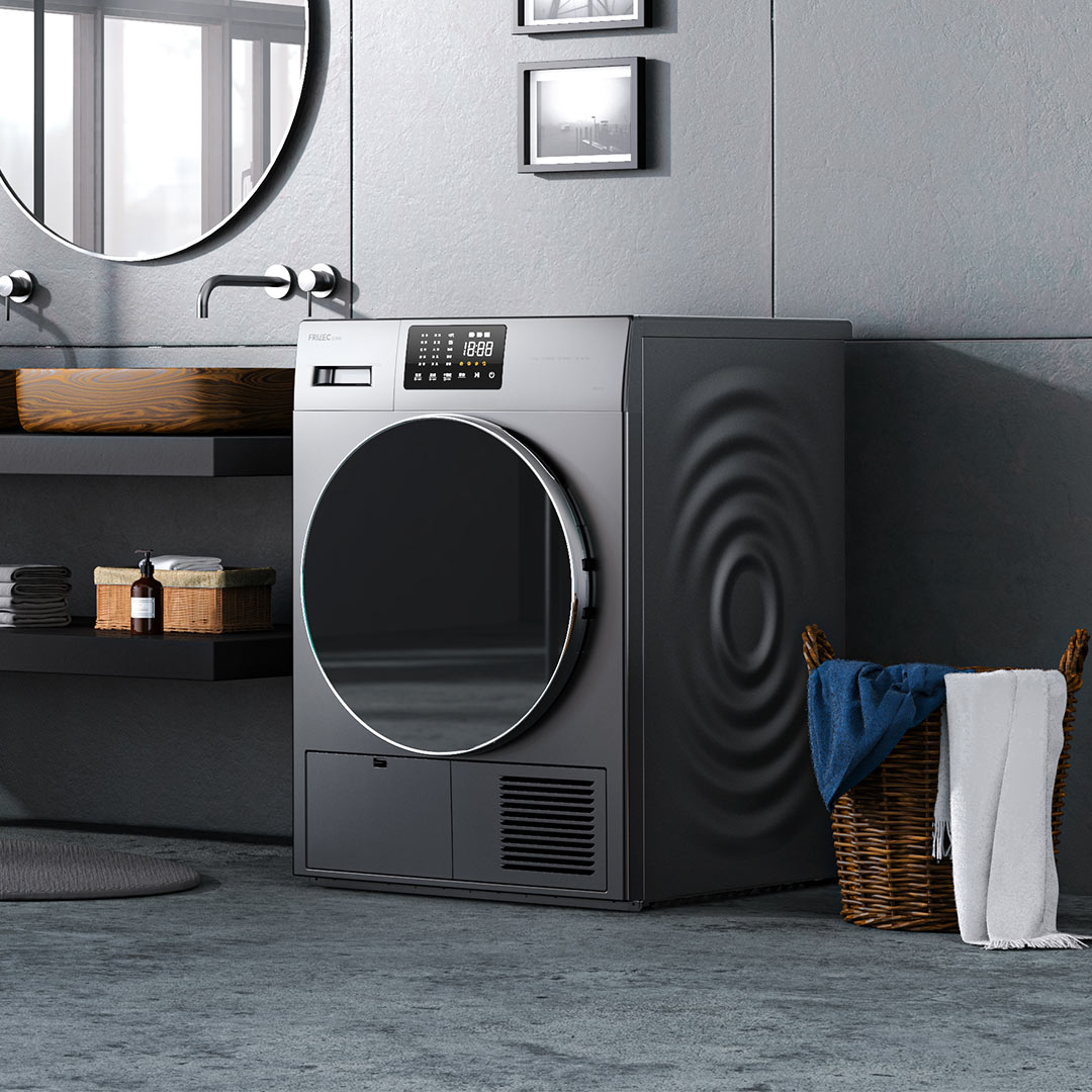 菲瑞柯9公斤热泵干衣机 灰色
