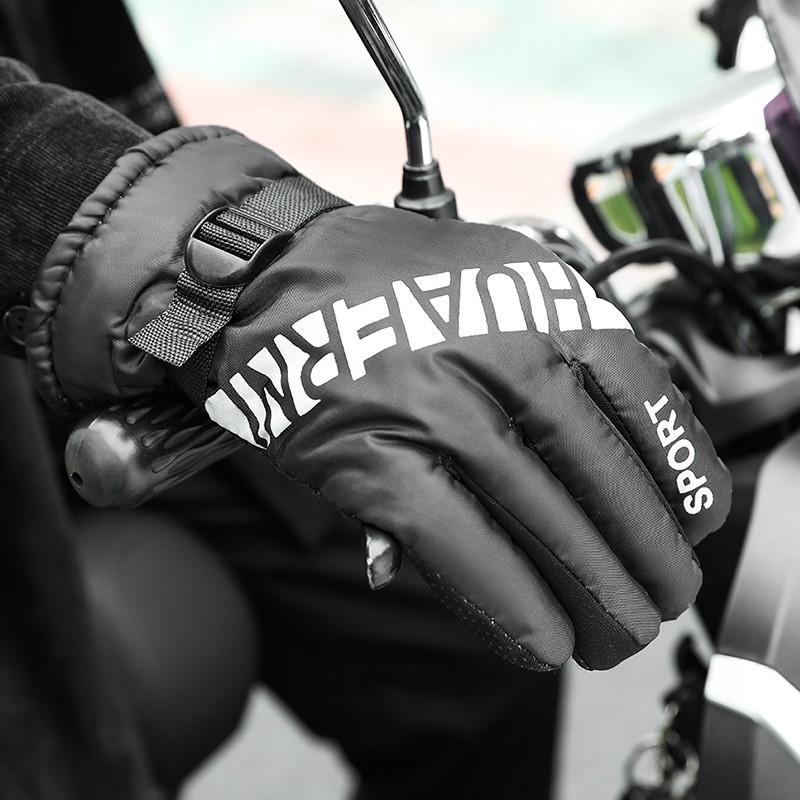 氹驰 NADM495 骑行加厚加绒长指保暖手套