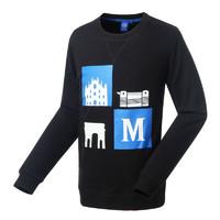国际米兰俱乐部Inter Milan时尚长袖运动休闲圆领印花男士卫衣