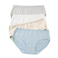 拾来九八女士纯色内裤4条装
