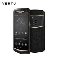 VERTU 纬图 ASTER P 哥特系列商务手机智能双卡双待 全网通4G 高端特色手机 威图 黄金镶钻小牛皮