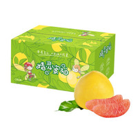 臻选琯溪红肉蜜柚 红心柚子 2粒装 单果1.5-1.8kg 新鲜中秋国庆水果礼盒装 *7件