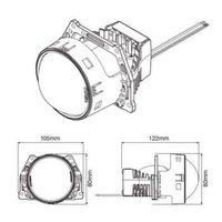 欧司朗osramLED双光透镜CLC套装 升级改装远近一体汽车灯泡远近光包安装 LEDriving CLC套装