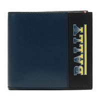 巴利 BALLY 男士皮质短款钱包钱夹蓝色多色LOGO图案 BRASAI AB 47 6232183