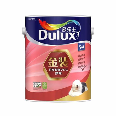 竹炭金装净味五合一乳胶漆墙面漆5L