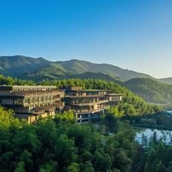森林覆盖率达到95%!湖州慧心谷度假酒店 山景房1晚(含早餐+minibar+户外活动)