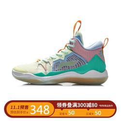 李宁篮球鞋男士2020利刃男子中帮篮球专业比赛鞋ABAQ059