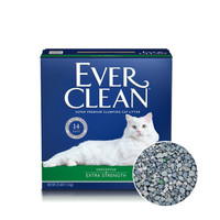 美国原装进口 Ever Clean铂钻 清香无尘结团锁水猫砂 (绿标)25磅(11.3千克)蓝