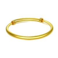 CHJ JEWELLERY 潮宏基 密語系列 CD0001239100 女士黃金可調節空心手鐲 21.45g
