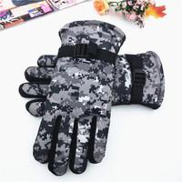 顾二 冬季棉手套作训战术手套骑行加厚绒手套